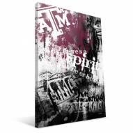 """Texas A&M Aggies 16"""" x 24"""" Spirit Canvas Print"""