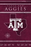 "Texas A&M Aggies 17"" x 26"" Coordinates Sign"