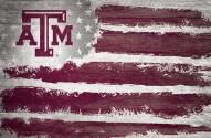 """Texas A&M Aggies 17"""" x 26"""" Flag Sign"""