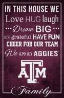 """Texas A&M Aggies 17"""" x 26"""" In This House Sign"""