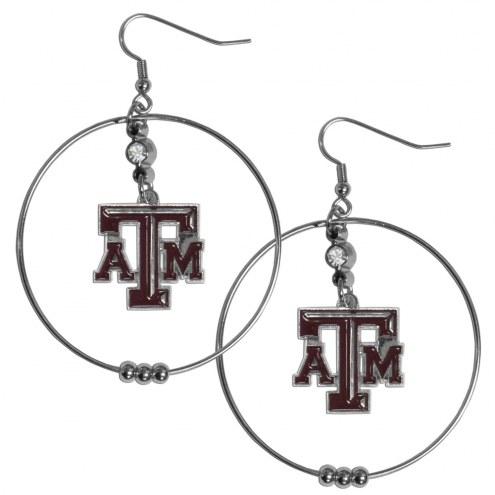 """Texas A&M Aggies 2"""" Hoop Earrings"""