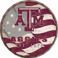 "Texas A&M Aggies 24"" Flag Barrel Top"