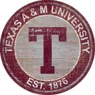 "Texas A&M Aggies 24"" Heritage Logo Round Sign"