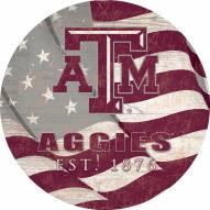 """Texas A&M Aggies 24"""" Team Color Flag Circle Sign"""