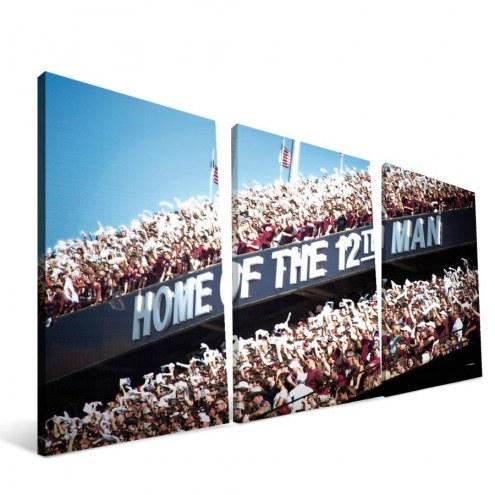 """Texas A&M Aggies 24"""" x 48"""" 12th Man Canvas Print"""