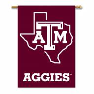"""Texas A&M Aggies 28"""" x 40"""" State Outline Banner"""