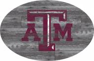 """Texas A&M Aggies 46"""" Distressed Wood Oval Sign"""