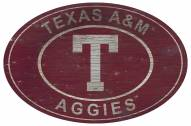 """Texas A&M Aggies 46"""" Heritage Logo Oval Sign"""