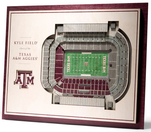 Texas A&M Aggies 5-Layer StadiumViews 3D Wall Art