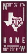 "Texas A&M Aggies 6"" x 12"" Coordinates Sign"