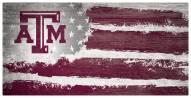 """Texas A&M Aggies 6"""" x 12"""" Flag Sign"""