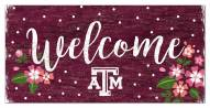 """Texas A&M Aggies 6"""" x 12"""" Floral Welcome Sign"""
