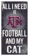 "Texas A&M Aggies 6"" x 12"" Football & My Cat Sign"