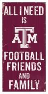 """Texas A&M Aggies 6"""" x 12"""" Friends & Family Sign"""