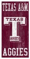 "Texas A&M Aggies 6"" x 12"" Heritage Logo Sign"