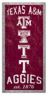 """Texas A&M Aggies 6"""" x 12"""" Heritage Sign"""