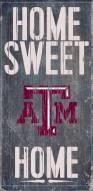 """Texas A&M Aggies 6"""" x 12"""" Home Sweet Home Sign"""
