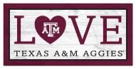 """Texas A&M Aggies 6"""" x 12"""" Love Sign"""