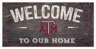 """Texas A&M Aggies 6"""" x 12"""" Welcome Sign"""
