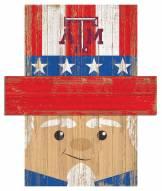 """Texas A&M Aggies 6"""" x 5"""" Patriotic Head"""