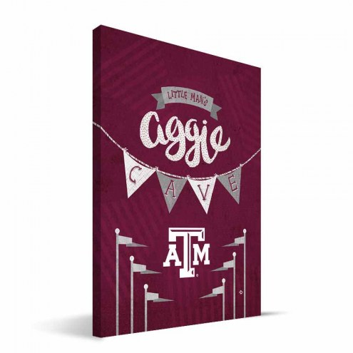 "Texas A&M Aggies 8"" x 12"" Little Man Canvas Print"