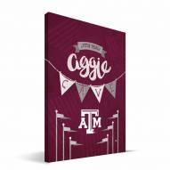 """Texas A&M Aggies 8"""" x 12"""" Little Man Canvas Print"""