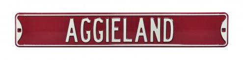 Texas A&M Aggies Aggieland Street Sign