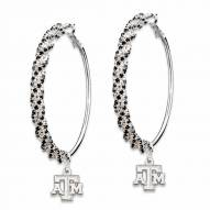 Texas A&M Aggies Amped Logo Crystal Earrings