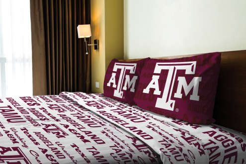 Texas A&M Aggies Anthem Full Bed Sheets