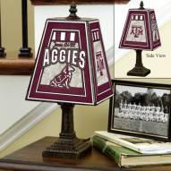 Texas A&M Aggies Art Glass Table Lamp