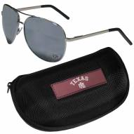 Texas A&M Aggies Aviator Sunglasses and Zippered Carrying Case