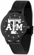 Texas A&M Aggies Black Dial Mesh Statement Watch