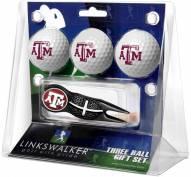 Texas A&M Aggies Black Crosshair Divot Tool & 3 Golf Ball Gift Pack