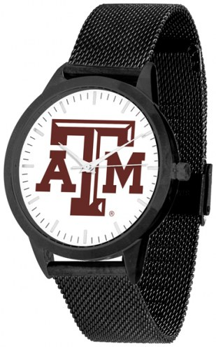 Texas A&M Aggies Black Mesh Statement Watch