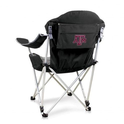 Texas A&M Aggies Black Reclining Camp Chair