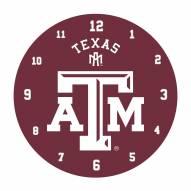 Texas A&M Aggies Black Rim Clock