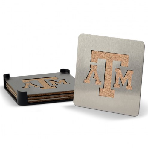 Texas A&M Aggies Boasters Stainless Steel Coasters - Set of 4