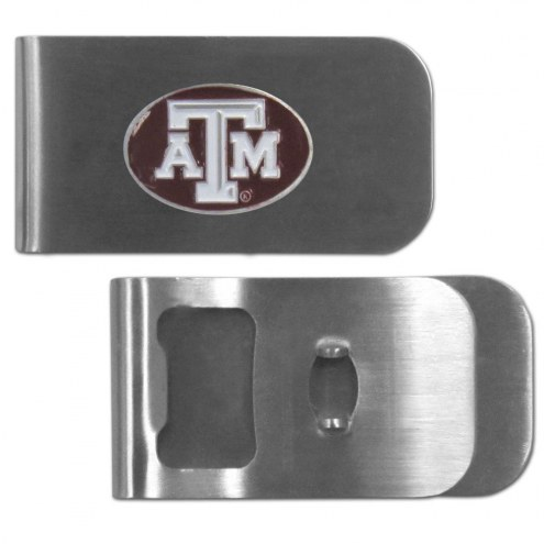 Texas A&M Aggies Bottle Opener Money Clip