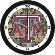 Texas A&M Aggies Camo Wall Clock