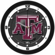 Texas A&M Aggies Carbon Fiber Wall Clock
