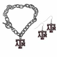 Texas A&M Aggies Chain Bracelet & Dangle Earring Set