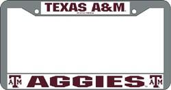 Texas A&M Aggies Chrome License Plate Frame
