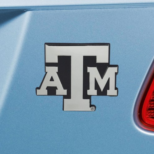 Texas A&M Aggies Chrome Metal Car Emblem