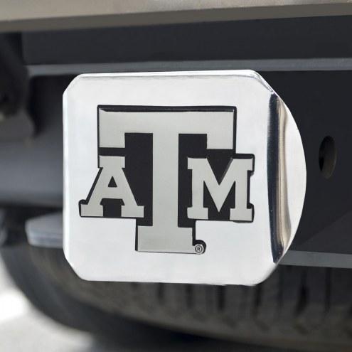 Texas A&M Aggies Chrome Metal Hitch Cover