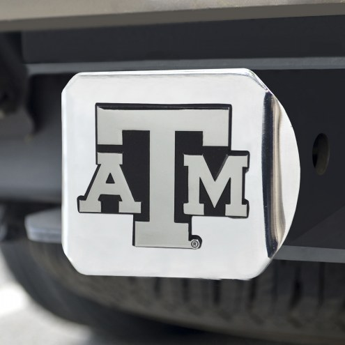 Texas A&M Aggies Chrome Metal Hitch Cover