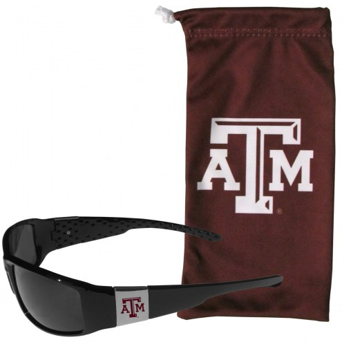 Texas A&M Aggies Chrome Wrap Sunglasses & Bag