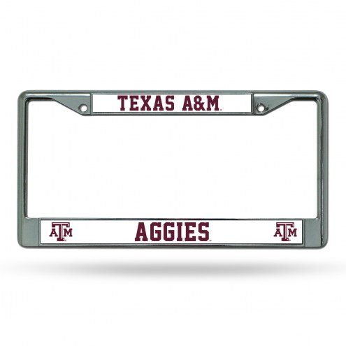 Texas A&M Aggies College Chrome License Plate Frame