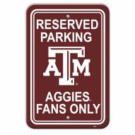 Texas A&M Aggies College Parking Sign