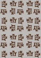 Texas A&M Aggies College Repeat Area Rug