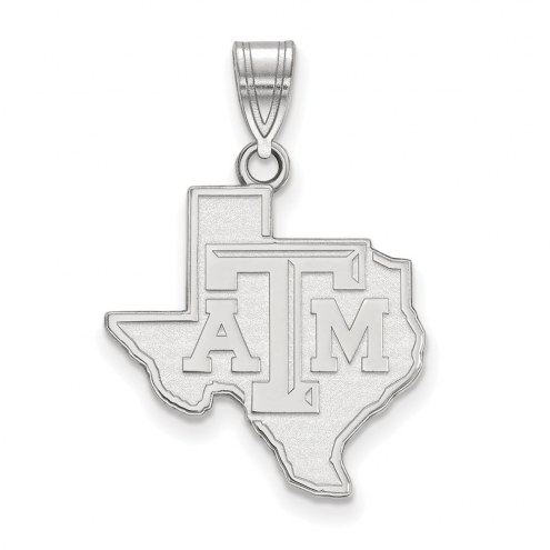 Texas A&M Aggies Sterling Silver Large Pendant